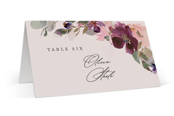 Fleur Foil-Pressed Place Cards