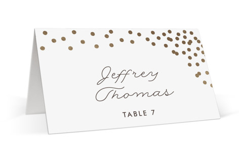 Thrilling Foil-Pressed Place Cards