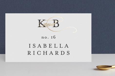 Elegant Initials Foil-Pressed Place Cards