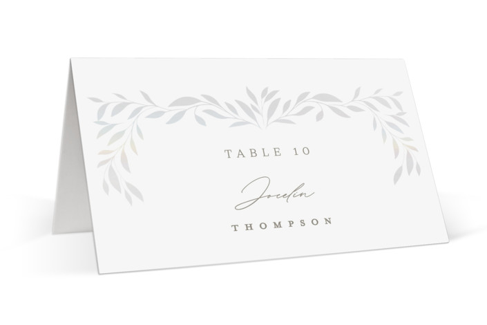 Clarity Gloss Press Place Card