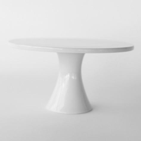 Large Modern White Cake Plates