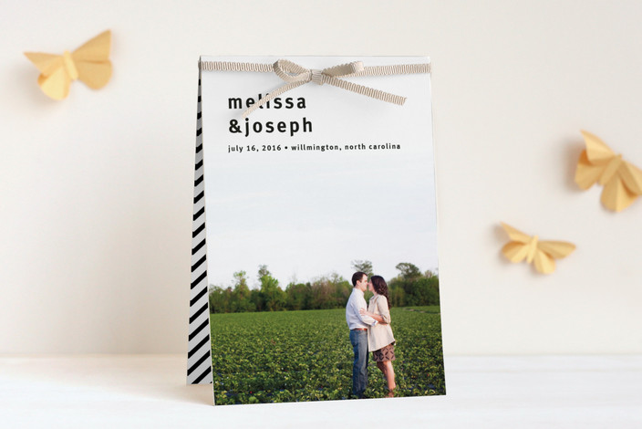 """""""A Sweet Afternoon"""" - Modern, Simple Unique Wedding Programs in Slate by Jack Knoebber."""