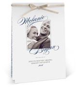 Elegant Script Unique Wedding Programs