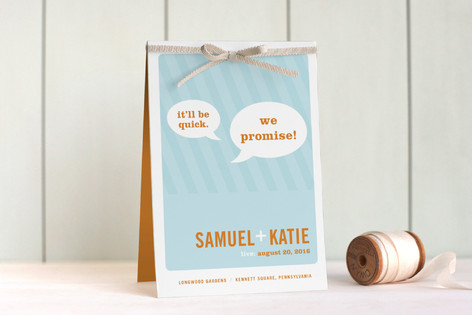 Smart Conversation Unique Wedding Programs