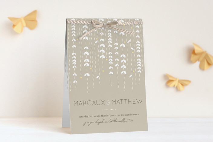 """""""WILLOW TREE"""" - Rustic, Modern Unique Wedding Programs in Sand by sweet street gals."""