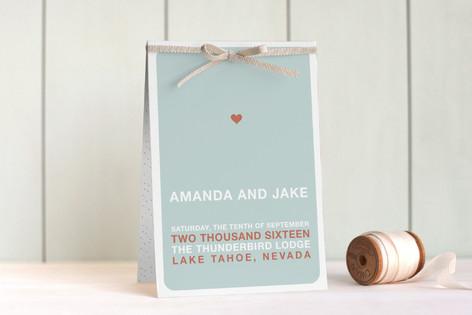 just married Unique Wedding Programs