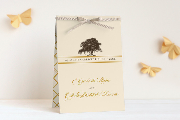 """""""Oak Tree"""" - Rustic, Classical Unique Wedding Programs in Butterscotch by bumble ink."""
