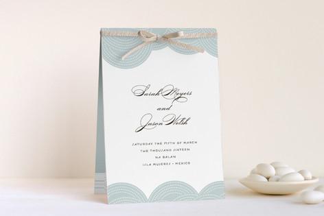 Pearls on a String Unique Wedding Programs