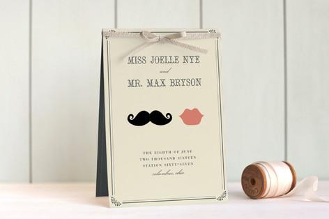 Stache + Kiss Unique Wedding Programs