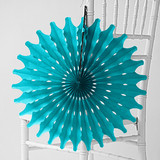 """Teal 18"""" Honeycomb Tissue"""