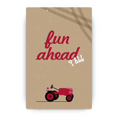 A Tractor Pull Personalizable Party Greeting Signs 2