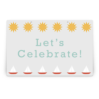 Beach Day Personalizable Party Greeting Signs 2