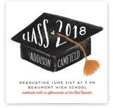 Hats Off Graduation Graduation Announcements
