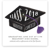 Hats Off Graduation Graduation Announcements