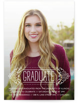 Fancy Grad Graduation Announcements