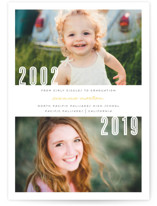 Now and Then Graduation Announcements