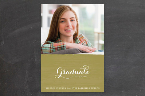 Golden Graduation Announcements