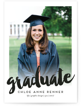 Bold Beginning Graduation Announcements