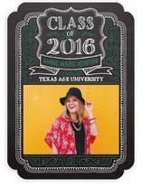 Chalk Drawn Frame Graduation Announcements