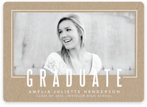 Statement Frame Graduation Announcements