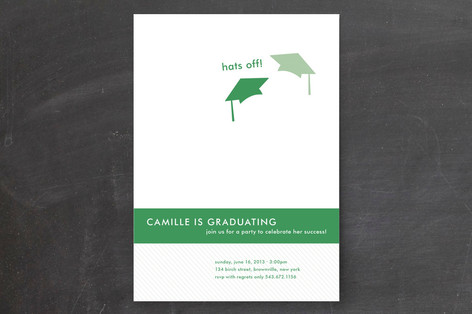 Celebration Stripes Graduation Announcements