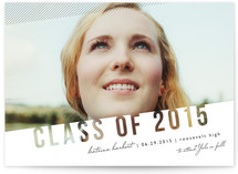 Simply See Through Graduation Announcements