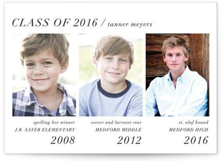 Modern Storyline Graduation Announcements