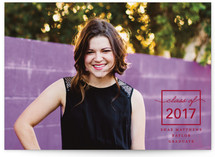 Outside Of The Box Year Graduation Announcements