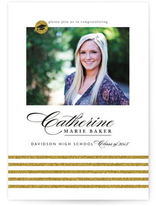 Sparkling Grad Graduation Announcements
