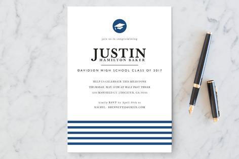 Classic Stripes Graduation Announcements