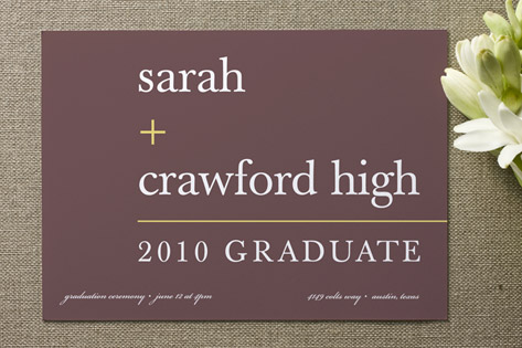 float + math Graduation Announcements