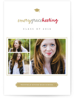 Book Plate Grad Graduation Announcements