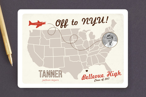 Up and Away Graduation Announcements