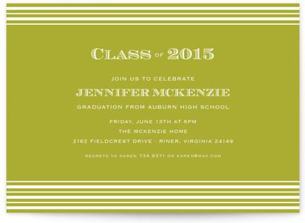 Spring Stripes Graduation Announcements