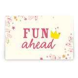 Princess Crown Party Greeting Signs