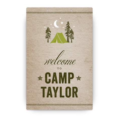 Campsite Personalizable Party Greeting Signs