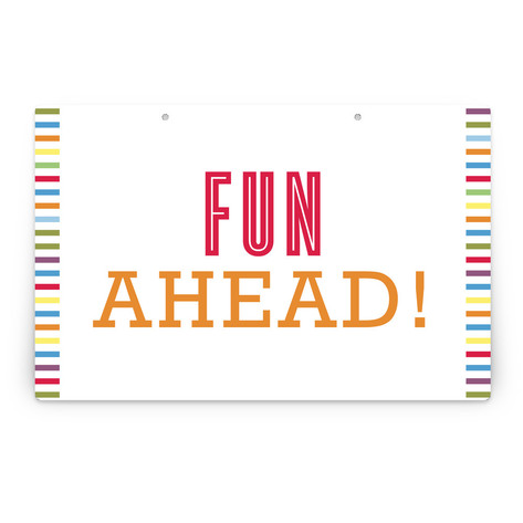 Fun with Color Personalizable Party Greeting Signs