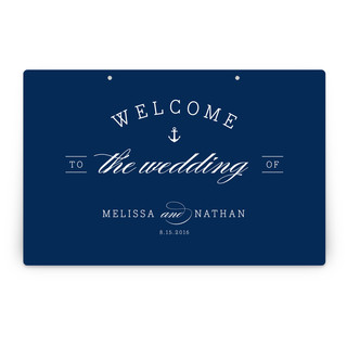Nautical Personalizable Party Greeting Signs