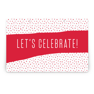Snow Dot Personalizable Party Greeting Signs