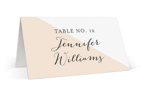 Modern Color Block Place Cards