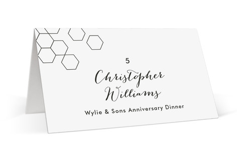 Modern Hex Place Cards