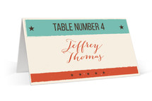 MidCentury Poster Board Place Cards