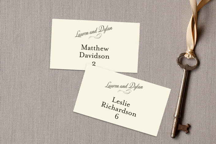 """""""Just My Type"""" - Typography, Simple Wedding Place Cards in Tuxedo by Ann Gardner."""