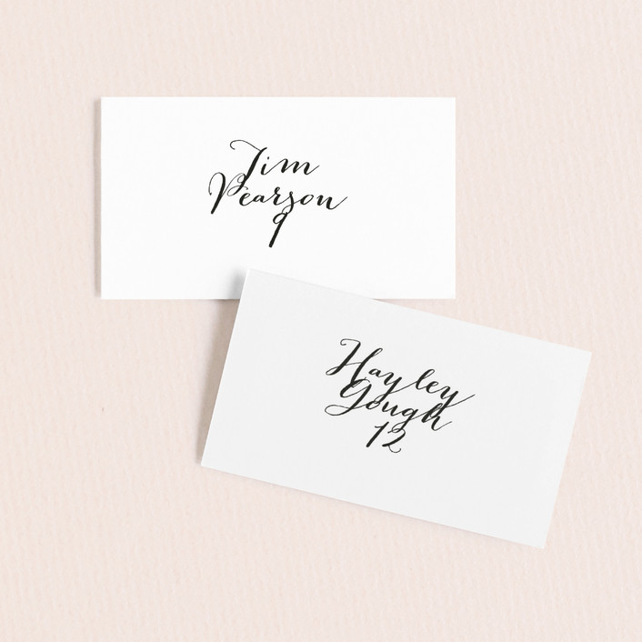 """""""Modern Mint"""" - Wedding Place Cards in Cotton by Marabou Design."""