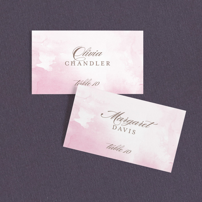 """Modern Marble"" - Modern Wedding Place Cards in Rose by kelli hall."