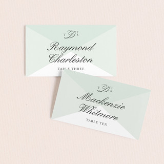 Overlapping Triangles Wedding Place Cards