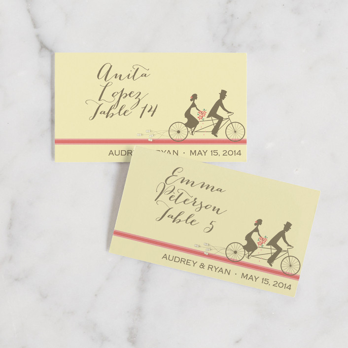 """""""Journey Together"""" - Wedding Place Cards in Buttercream by Letter19Design."""