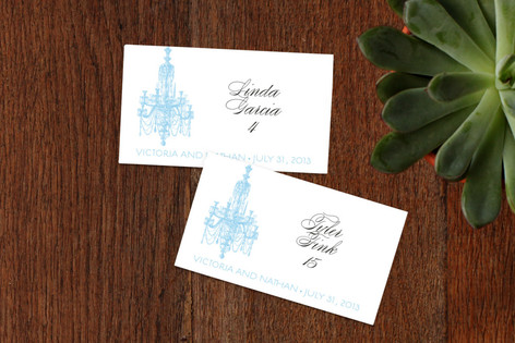 Chandelier Wedding Place Cards