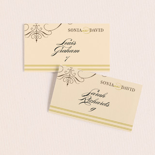 French Vintage Wedding Place Cards