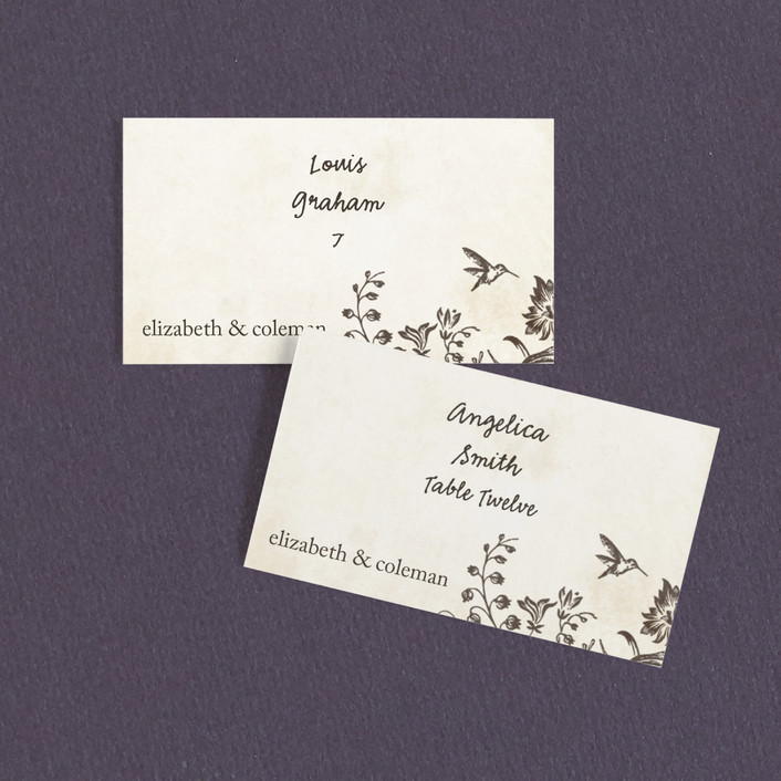 """""""Story Book"""" - Wedding Place Cards in Winter Cream by Jody Wody."""